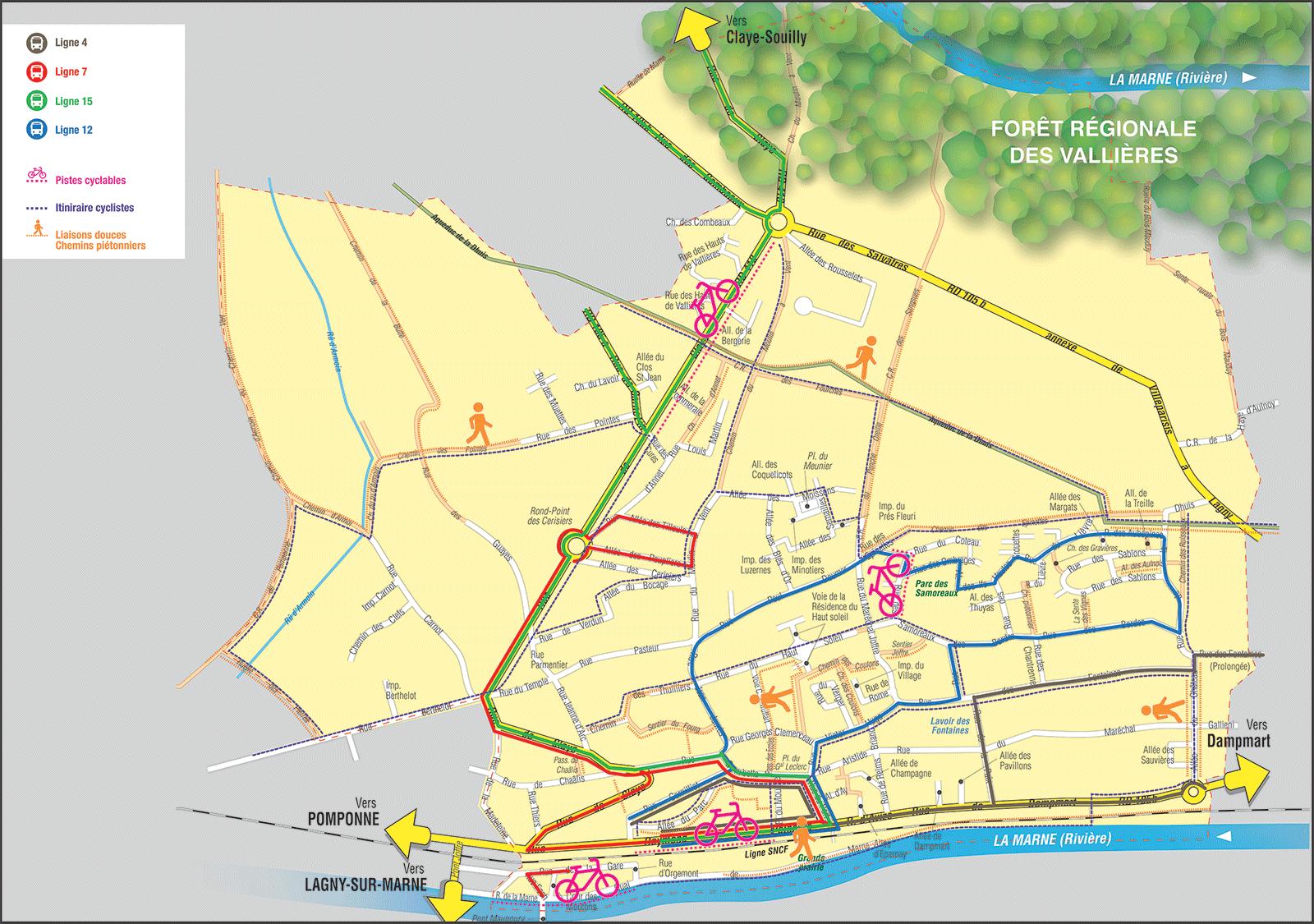 Carte des lignes de bus