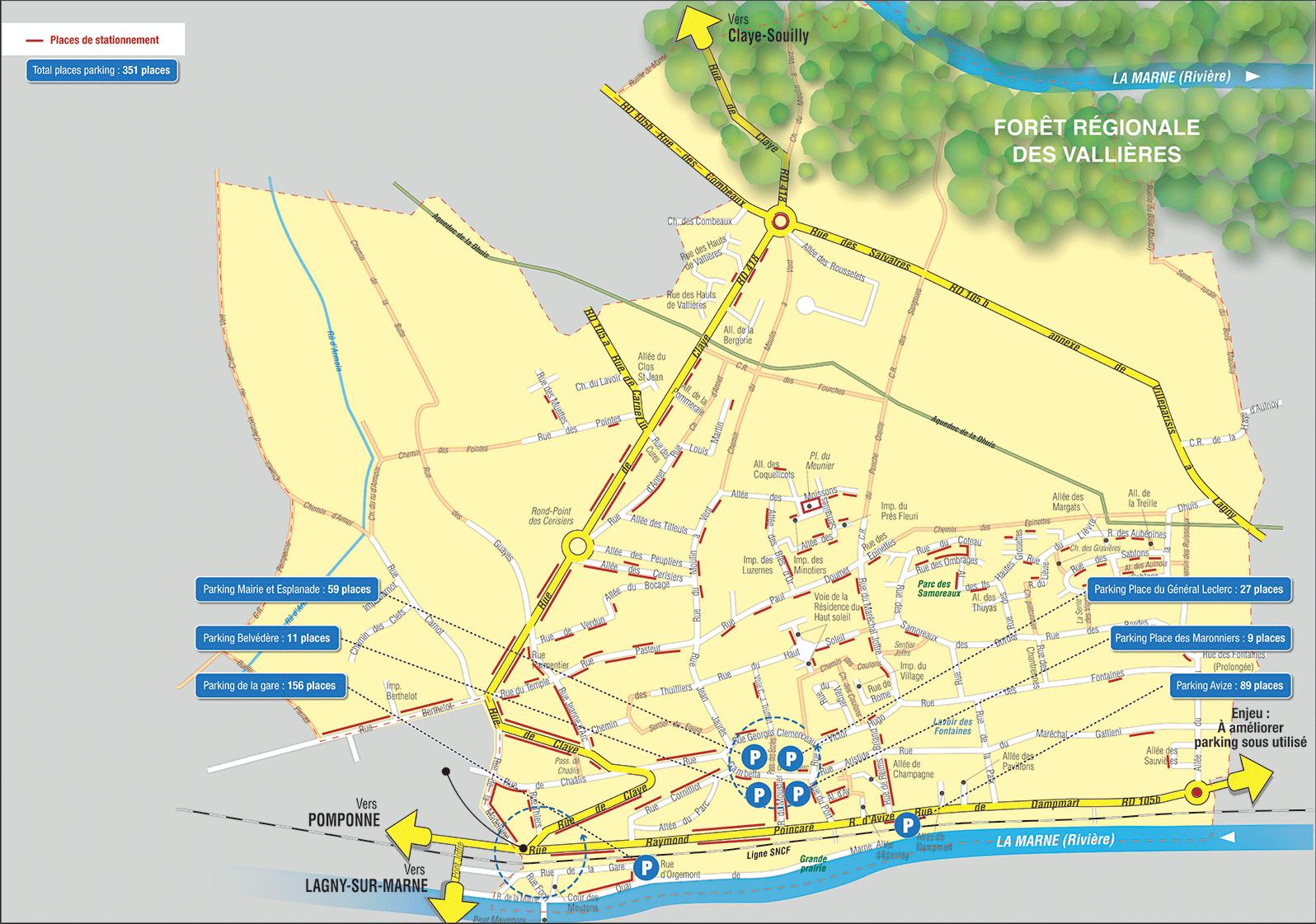 Carte de stationnement et circulation